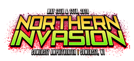 Northern Invasion rock and metal music festival logo.