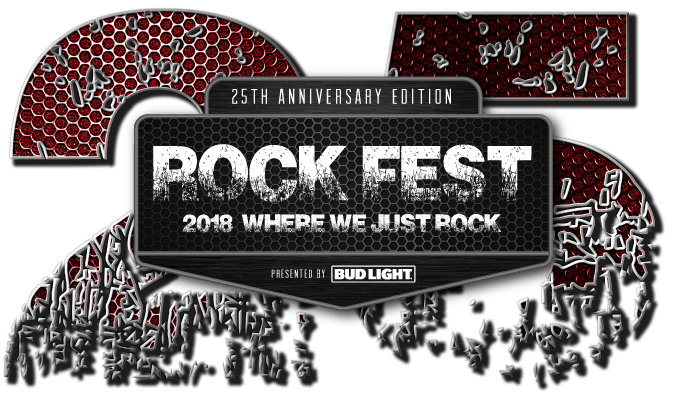 Rock Fest music festival celebrated it's 25th anniversary in 2018.