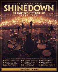 An Evening With Shinedown - Attention Attention World Tour poster.