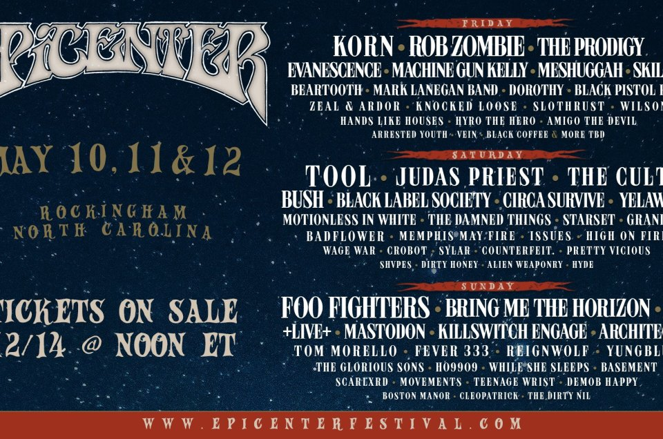 The lineup for the first ever Epicenter 2019 music festival has been announced!