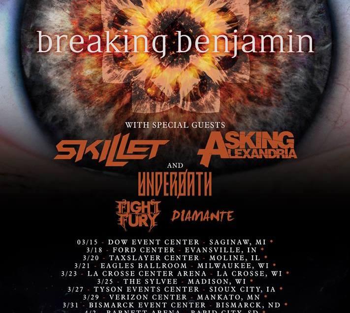 Breaking Benjamin to headline tour in spring 2019