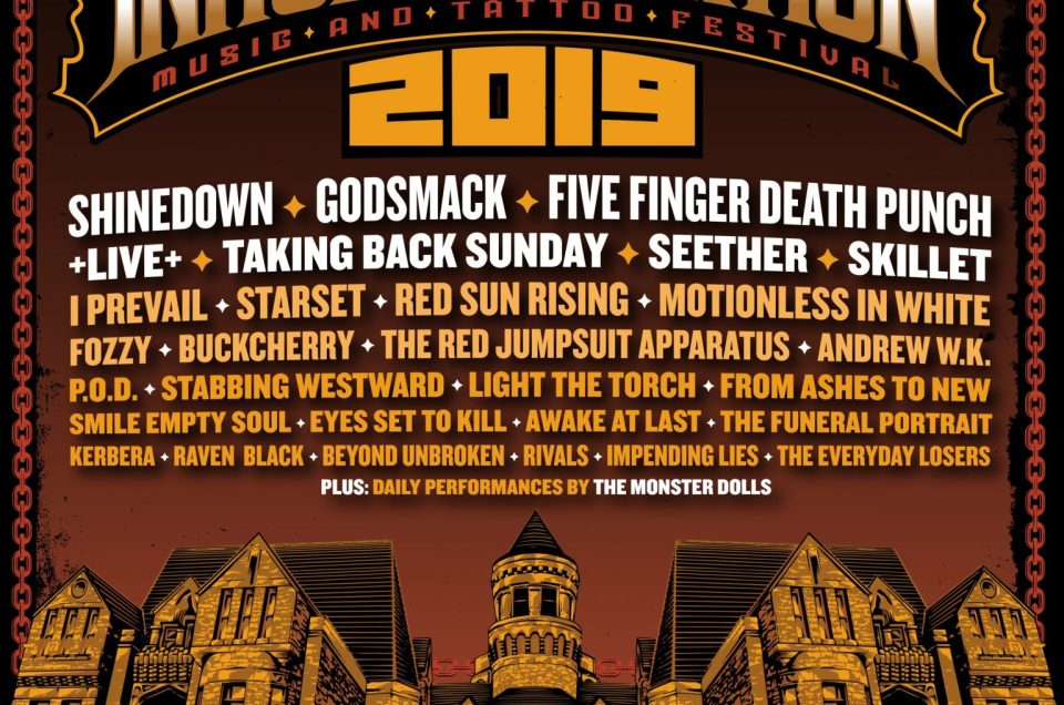 Inkcarceration Music + Tattoo festival has announced their lineup for 2019.