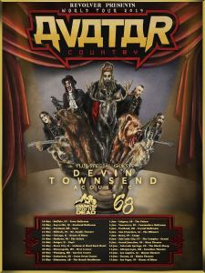 Avatar announce North American dates for Avatar Country World Tour 2019.