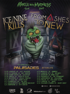 Ice Nine Kills and From Ashes To New will embark on co-headline March into Madness tour in spring 2019.