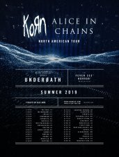 Korn and Alice in Chains have announced a co-headlining summer 2019 tour with Underoath, Fever 333 and Ho99o9.