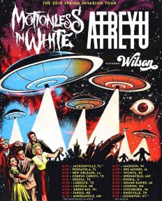 Atreyu + Motionless in White have announced a co-headline 2019 spring invasion tour with special guests Wilson.