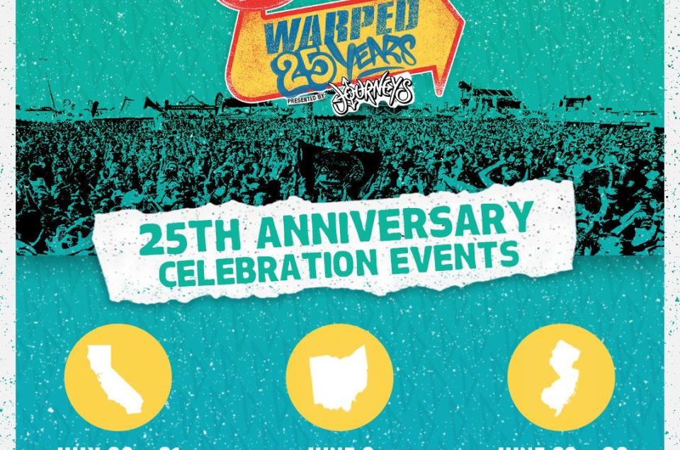 Lineups announced for Vans Warped Tour 25th Anniversary