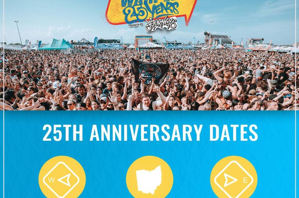 Vans Warped Tour has announced 3 dates to celebrate their 25th anniversary.