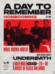 A Day To Remember to perform four Homecoming shows with Underoath at the House of Blues Orlando.