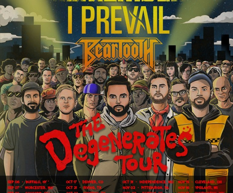A Day To Remember has announced The Degenerates Tour 2019 with I Prevail and Beartooth.