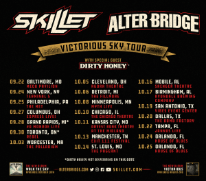Alter Bridge and Skillet have announced co-headlining 'The Victorious Sky Tour.'