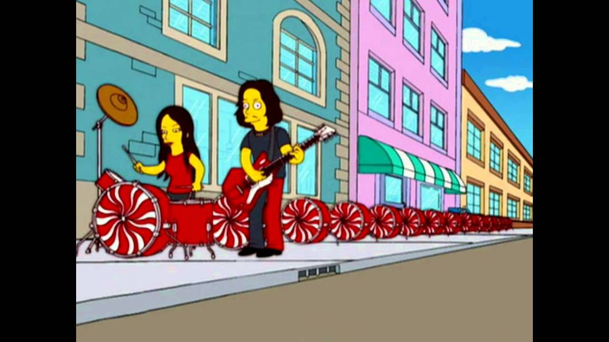 thewhitestripes.jpg  As Principais Participações de Bandas e Artistas nos Simpsons thewhitestripes