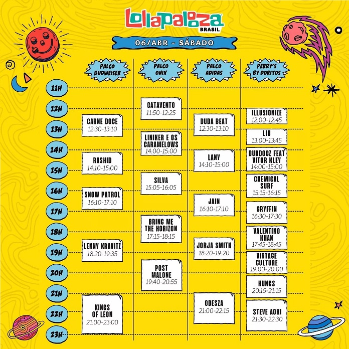 Lollapalooza-2019-Sábado.jpg  Lollapalooza Brasil anuncia horários e divisão para 2019 Lollapalooza 2019 S  bado