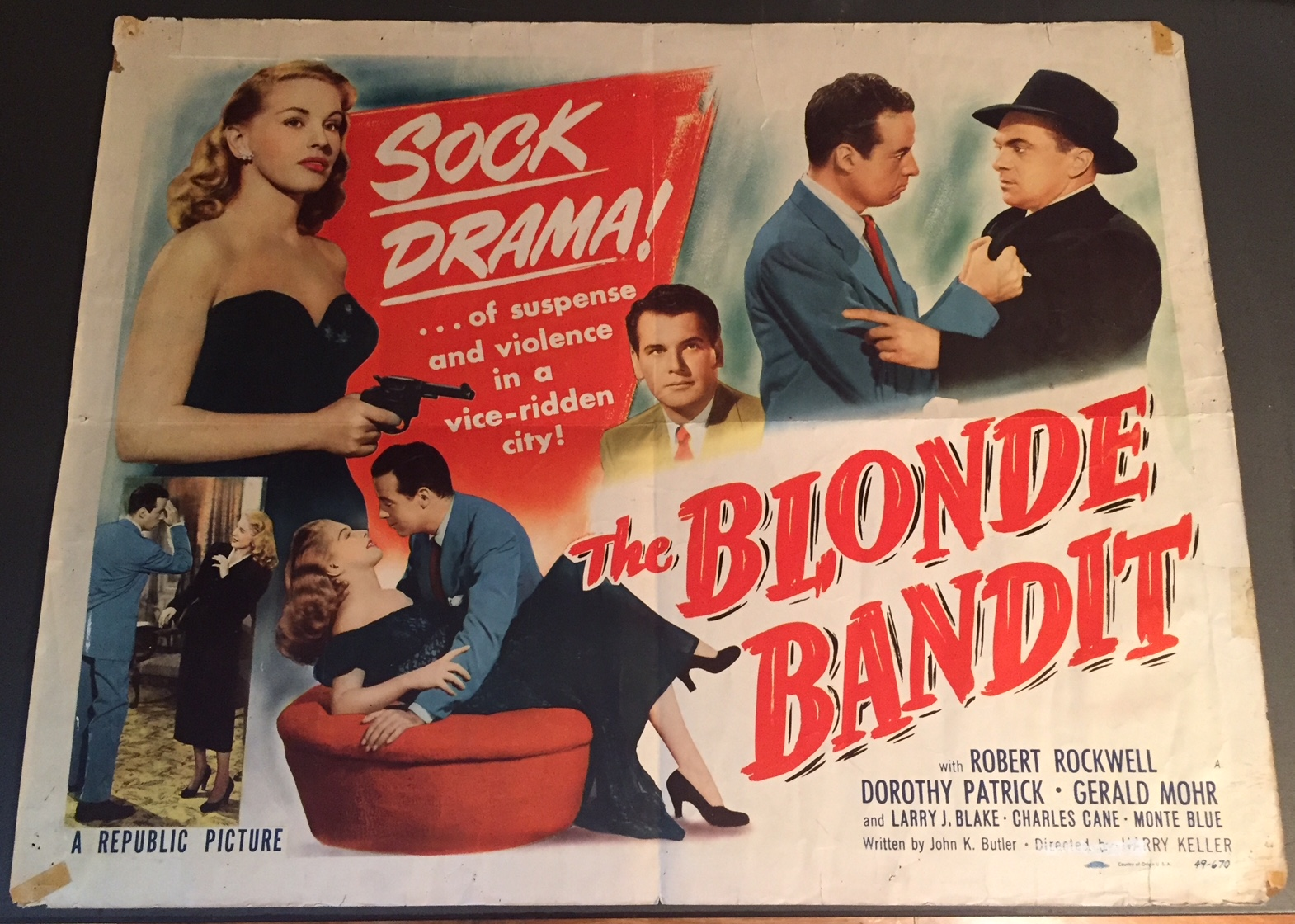 blonde bandit half sheet