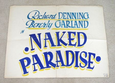 naked paradise half sheet