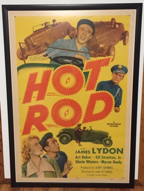 hot rod 1 sheet framed
