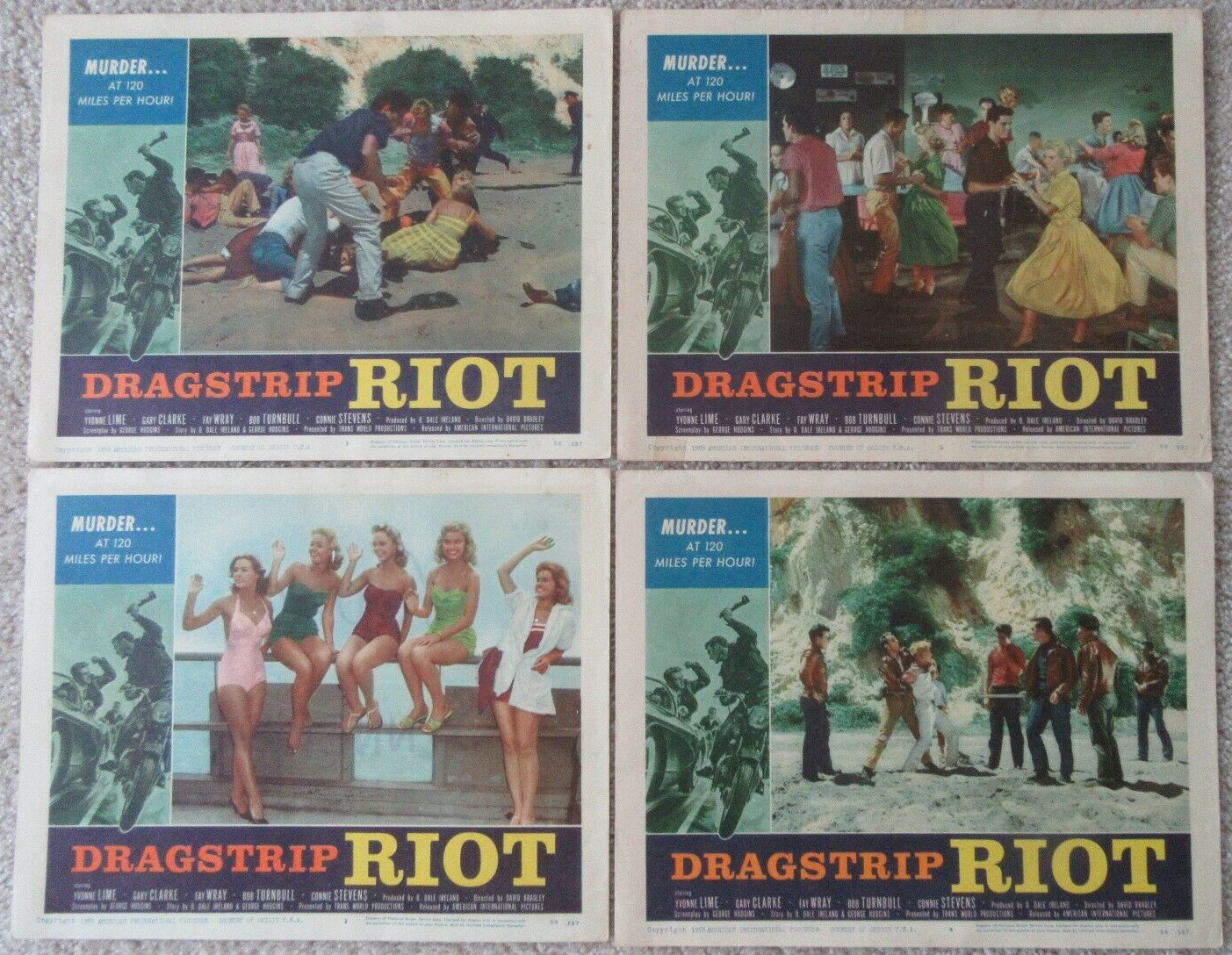 dragstrip riot lobby card set 2