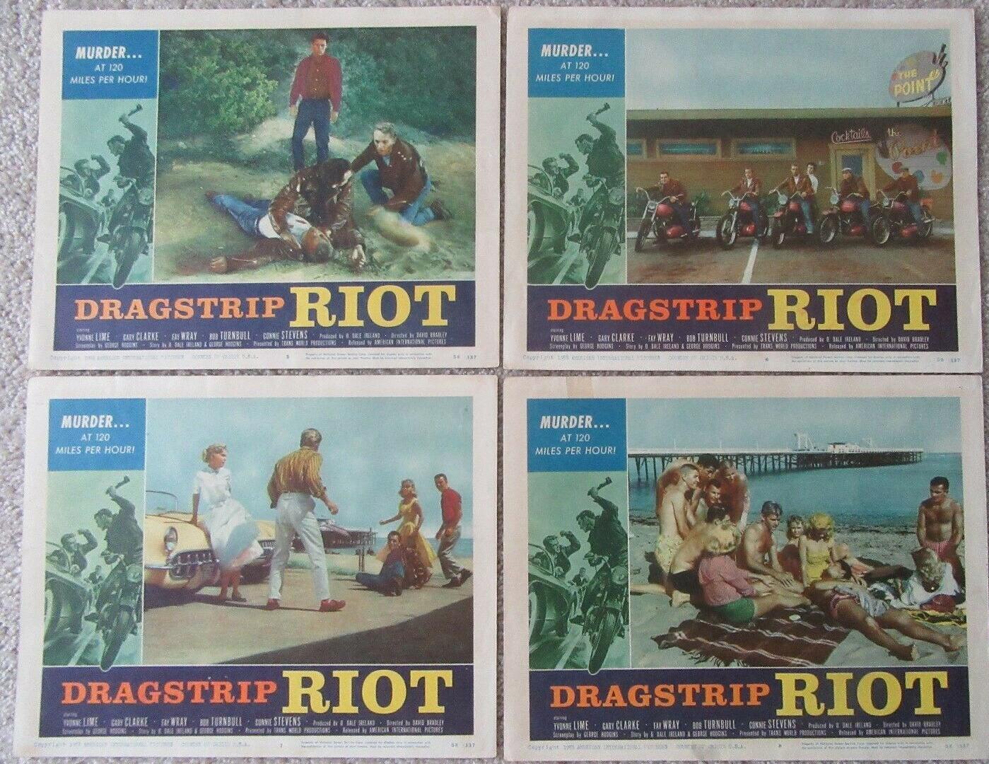 dragstrip riot lobby card set 3