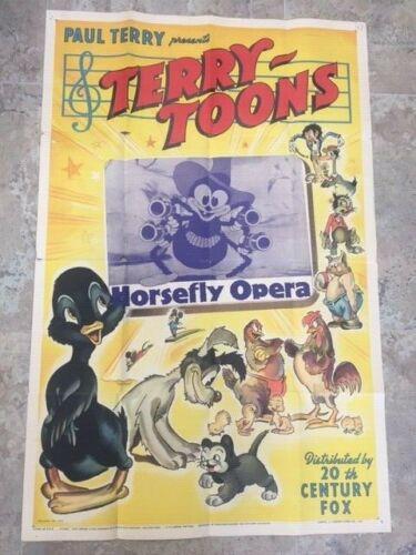 terry toons horsefly opera 1 sheet