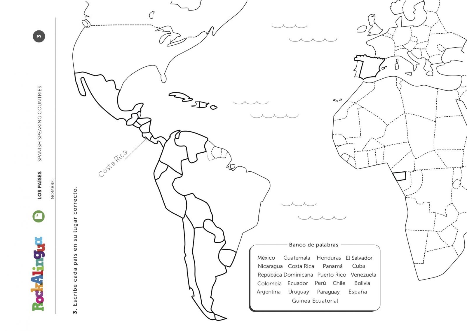 35 Spanish Speaking Countries Worksheet Answers