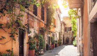 Street in Rome's Trastevere neighborhood
