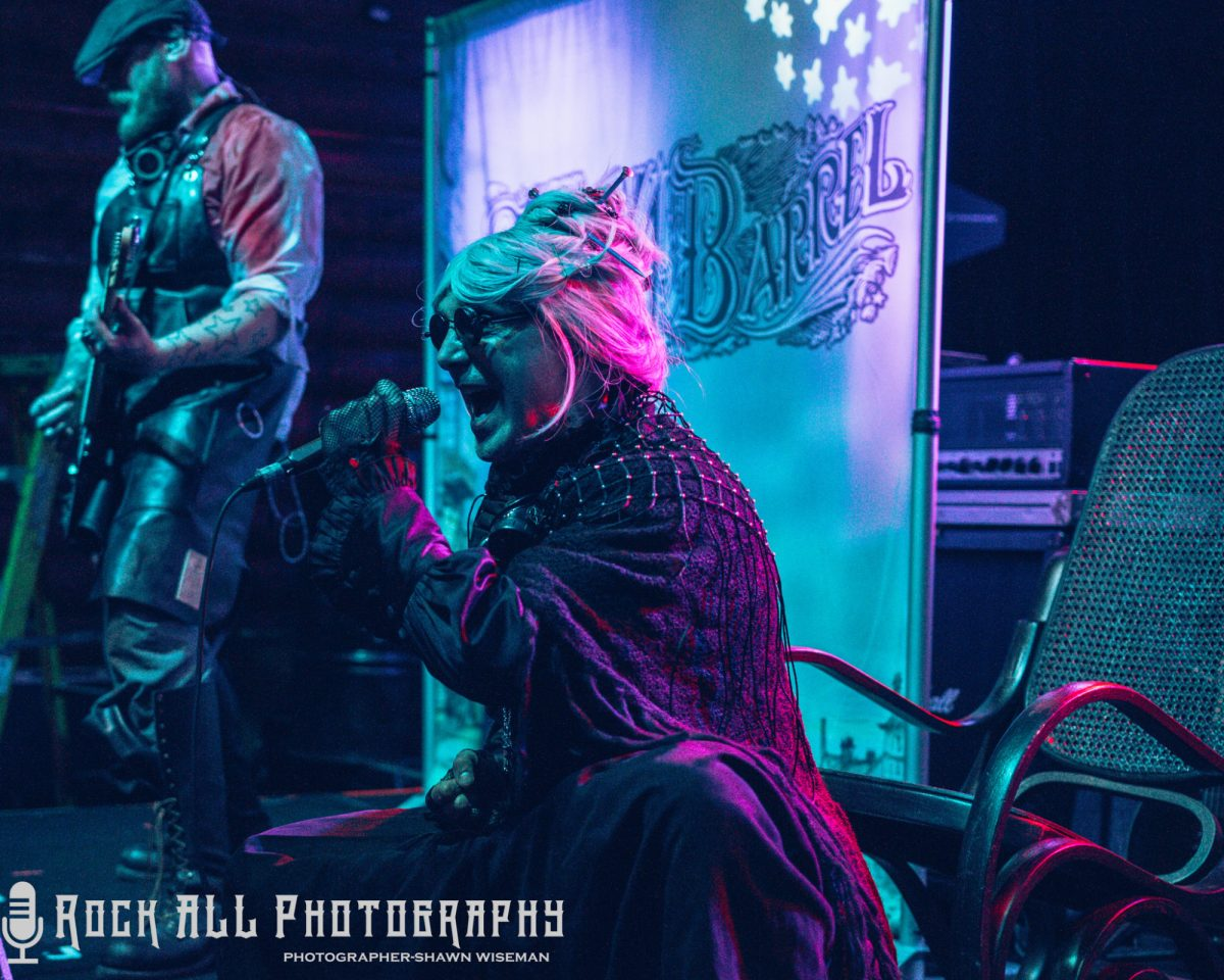 Imagine if Rob Zombie, Marilyn Manson, and Alice Cooper had a grandmother that fronted a rock band - Granny 4 Barrel - Interview with Granny & Photo's from the Show In Louisville, Kentucky