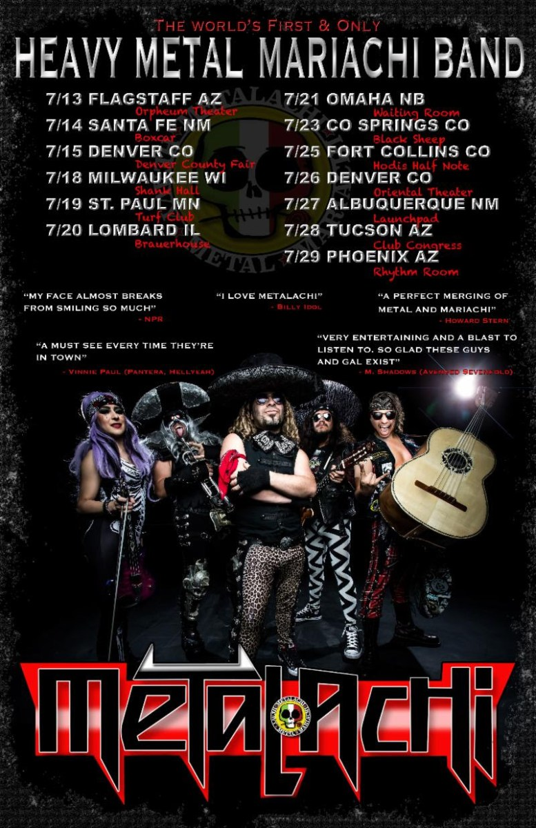 Heavy Metal Mariachi Masters METALACHI Announce More Summer Tour Dates!