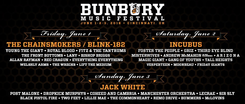 Check out our coverage of BUNBURY MUSIC FESTIVAL 2018 in Cincinnati, Ohio