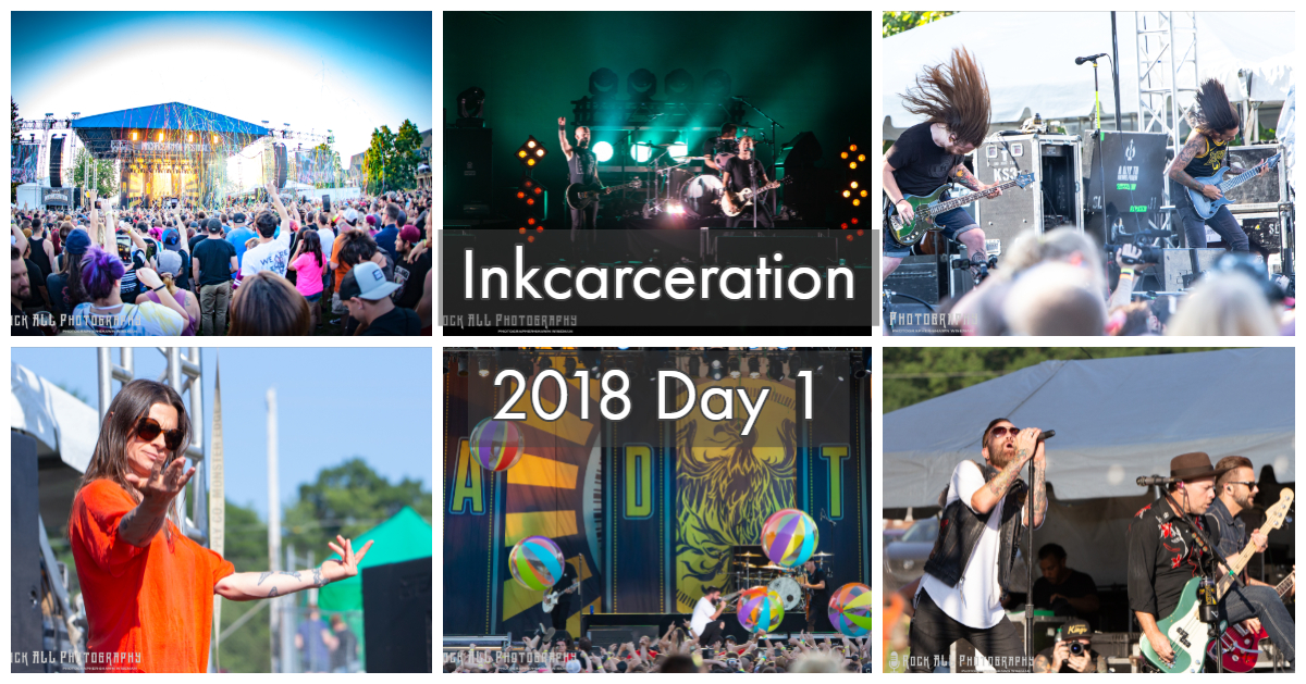 Heat and humidity and a lineup that was even hotter! Inkcarceration Festival delivered an amazing start with bands Rise Against, A Day To Remember, Of Mice & Men, Lit, Life of Agony, Bad Omens!