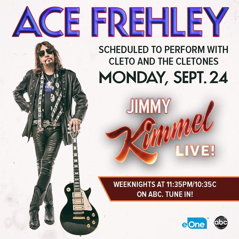 Ace Frehley To Appear On Jimmy Kimmel Live! Monday September 24