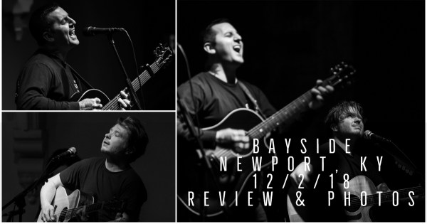 BAYSIDE PUT ON AN INCREDIBLE ACOUSTIC PERFORMANCE IN NEWPORT, KY – PHOTOS AND SHOW REVIEW