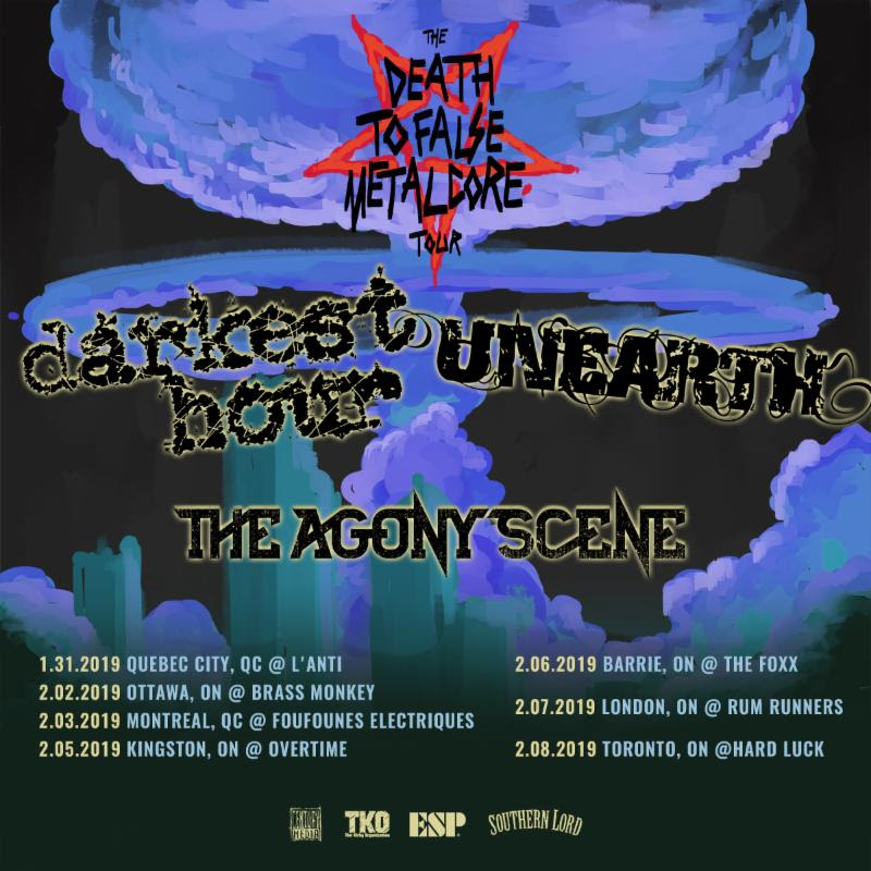 DARKEST HOUR Announces Death To False Metalcore Canadian Winter Tour Dates With Unearth And The Agony Scene