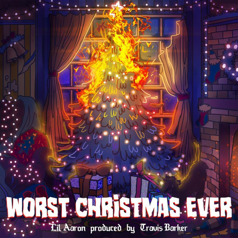 lil aaron Releases 'Worst Christmas Ever' EP Produced by Travis Barker
