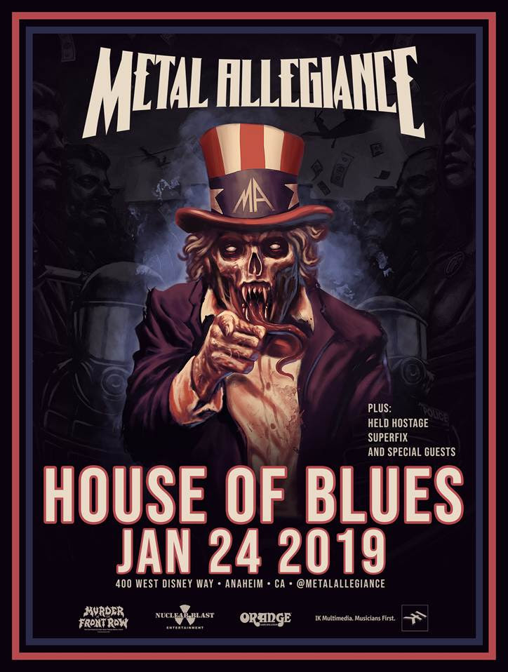 METAL ALLEGIANCE Announce West Coast Performance Of Their Black Sabbath Tribute At Annual January Metal Assault