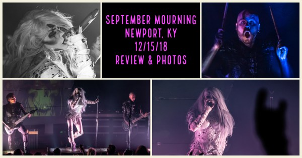 SEPTEMBER MOURNING IS A TRANSMEDIA DARK FANTASY FOR YOUR EARS AND EYES!! REVIEW & PHOTOS FROM THEIR NEWPORT, KY PERFORMANCE HERE!