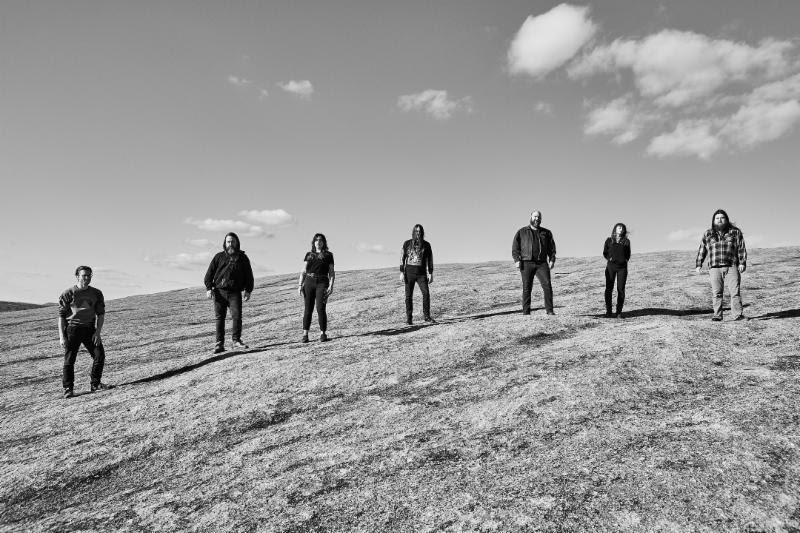 DEAD TO A DYING WORLD Begins West Coast Tour With Dawn Ray'd This Week; Elegy Full-Length By Texas Dark Metal Septet Out Now Through Profound Lore