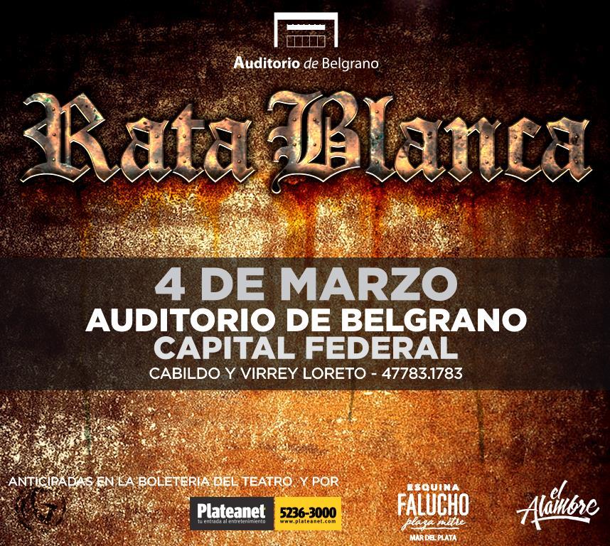 Rata Blanca - Belgrano 1