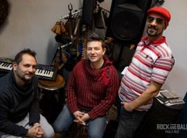 """Matías Conte, Maxi García, Gustavo """"Tano"""" Martelli, integrantes de La Descarga / Ph. Paula Ruiz"""