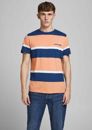camiseta de rayas con logo