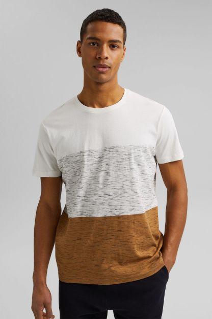 camiseta jaspeada color block