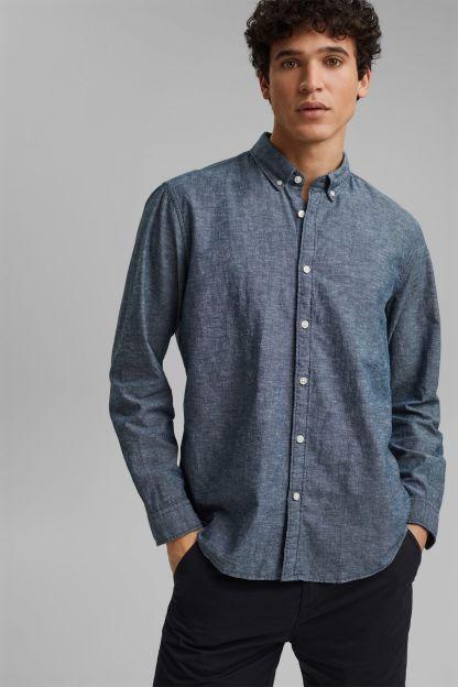 camisa de algodon y lino