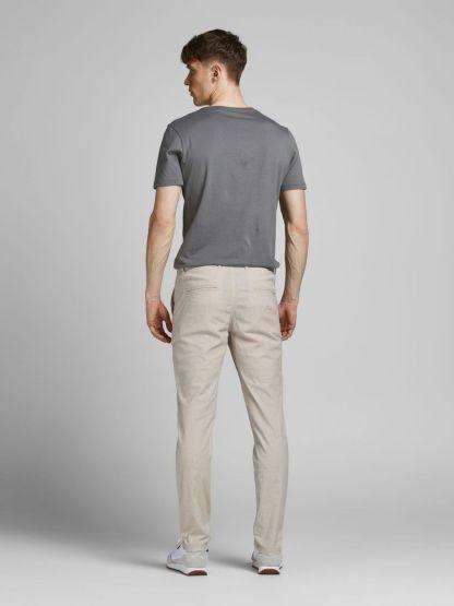 pantalon de lino marco dave white pepper