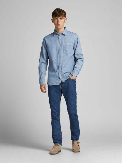 camisa blu blue mix