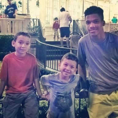AJ, JJ and Pat's son enjoy the fireworks