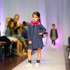 Denim jersey tulle collar dress Anna for kid, girl, baby, toddler