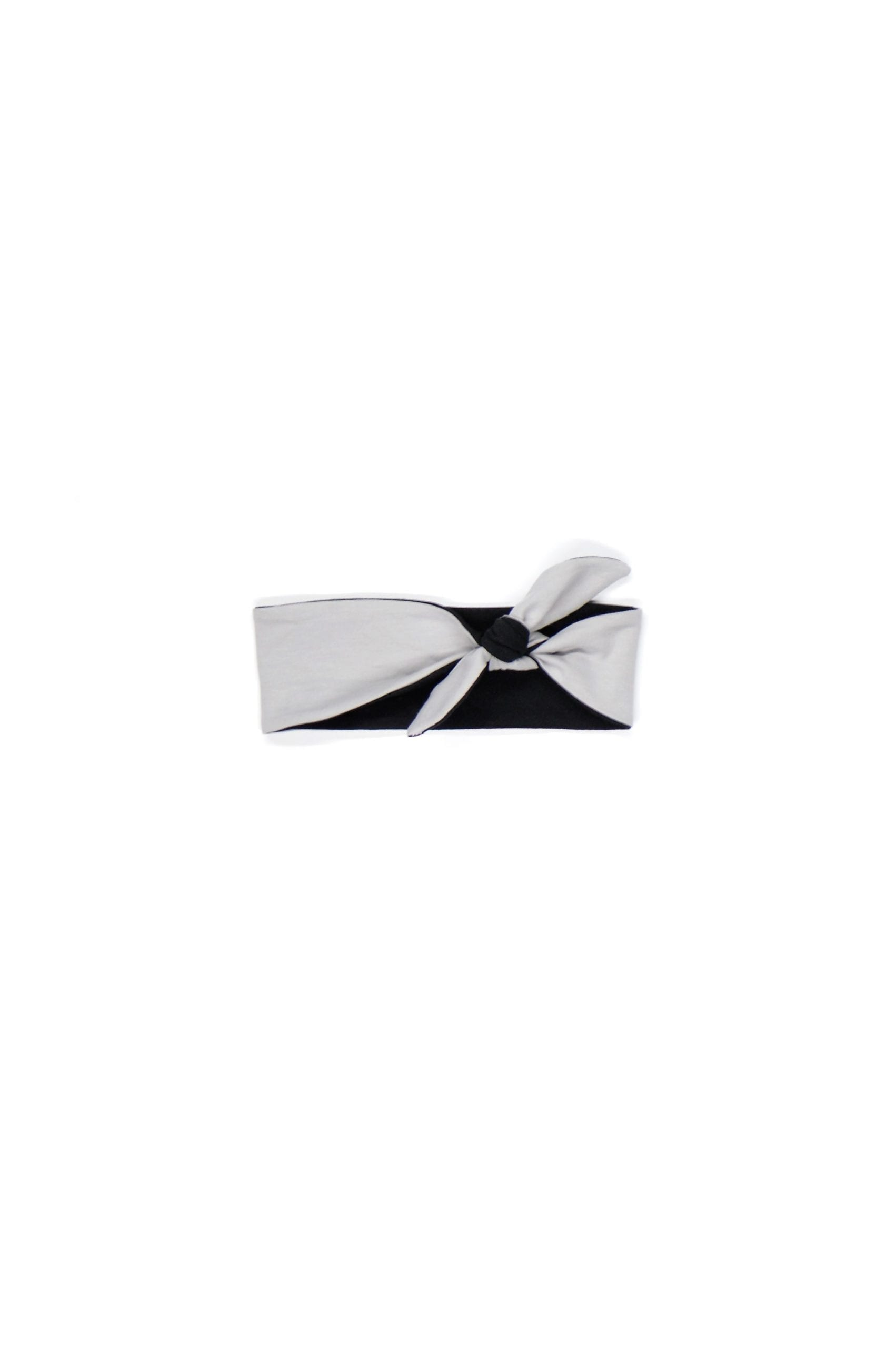 Black-grey knot headband for kid, toddler, baby, girl