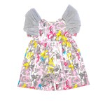 Pink expressions tulle wing dress for kid, girl, baby, toddler