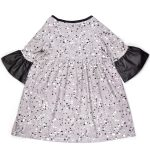 Splashes dress with leather look detail on the sleeve for girl, kid, toddler