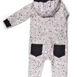 Comfy overall with our monochrome splashes print for kid, girl, boy, toddler, baby