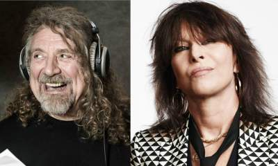 Robert Plant and Chrissie Hynde